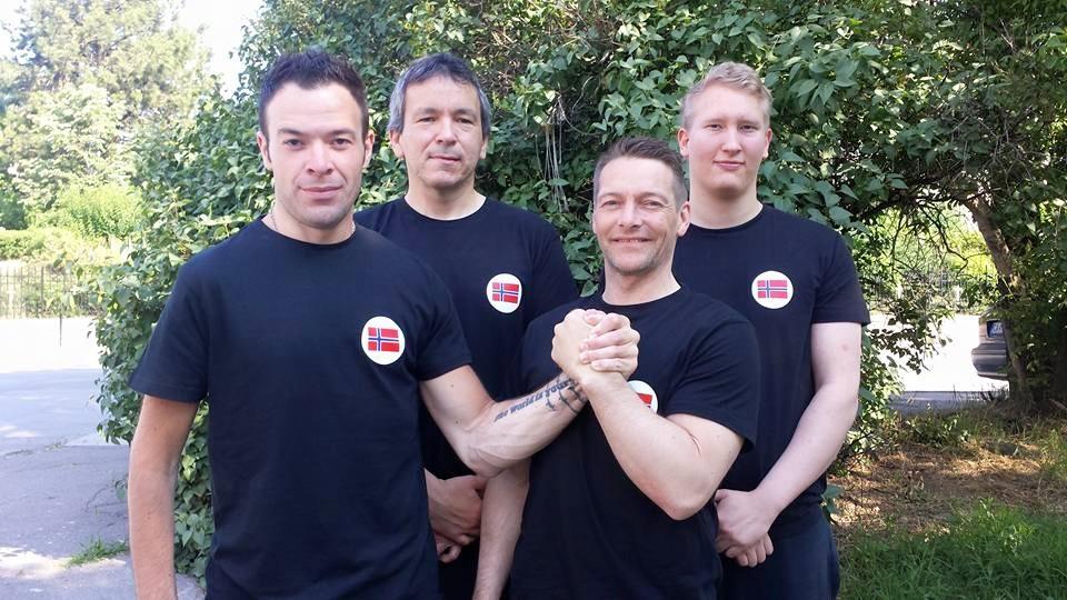 Frå venstre: Jørn, Ottar, Jan-Erik og Markus